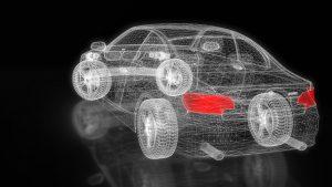 análisis 3d coche